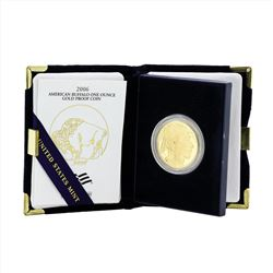 2006 American Buffalo One Ounce Gold Proof Coin with COA