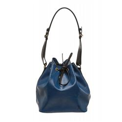 Louis Vuitton Blue Black Epi Leather Noe PM Drawstring Shoulder Bag
