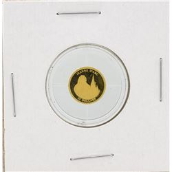 2001 $25 Liberia Jean D'Arc Proof Gold Coin
