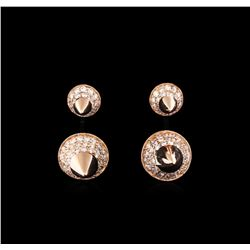 0.65 ctw Diamond Earrings - 14KT Rose Gold