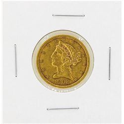 1902S $5 Liberty Head Gold Coin