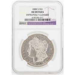 1888-S $1 Morgan Silver Dollar Coin NGC AU Details
