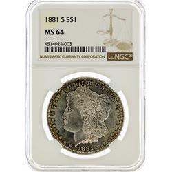 1881-S NGC MS64 Morgan Silver Dollar