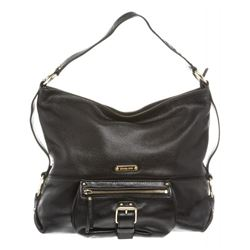 Michael Kors Black Leather Zip Top Shoulder Bag
