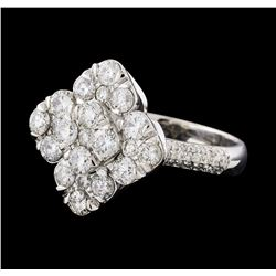 2.12 ctw Diamond Ring - 14KT White Gold