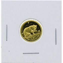 1999 Isle of Man 1/10 oz Crown Gold Coin