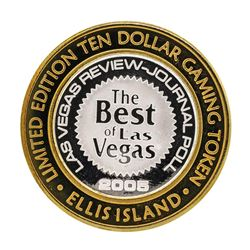 .999 Silver Ellis Island Casino & Brewery Las Vegas $10 Limited Edition Gaming T