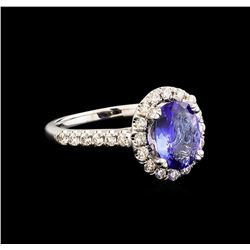 14KT White Gold 1.59 ctw Tanzanite and Diamond Ring