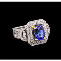 14KT Two-Tone 2.79 ctw Tanzanite and Diamond Ring