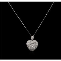 18KT White Gold 1.43 ctw Diamond Pendant With Chain
