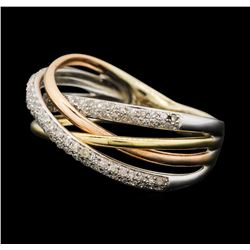 0.35 ctw Diamond Ring - 14KT Yellow, White, And Rose Gold