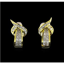 18KT Yellow Gold 1.76 ctw Diamond Earrings