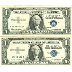 $1 XF/AV Silver Certificate Currency Lot of 2
