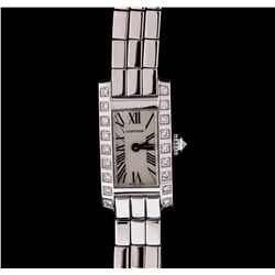 Cartier 18KT White Gold Diamond Lanieres Ladies Watch