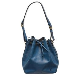 Louis Vuitton Blue Epi Leather Noe PM Drawstring Shoulder Bag