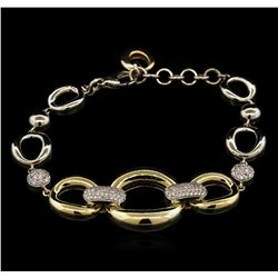 0.60 ctw Diamond Bracelet - 14KT Two-Tone Gold