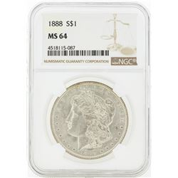 1888 MS64 NGC Morgan Silver Dollar