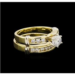 1.47 ctw Diamond Ring - 14KT Yellow and White Gold