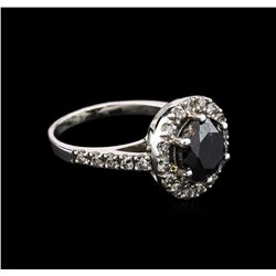 3.95 ctw Black Diamond Ring - 14KT White Gold