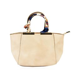 Lindsey Beige Embroidered Handbag