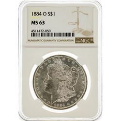 1884-O NGC MS63 Morgan Silver Dollar