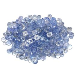 15.7 ctw Round Mixed Tanzanite Parcel