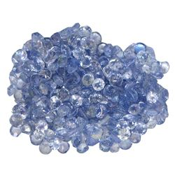 12.63 ctw Round Mixed Tanzanite Parcel