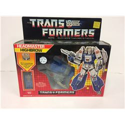 "VINTAGE TRANSFORMERS HIGHBROW G1 Action Figure 6.5"" Headmaster IN BOX 1987"
