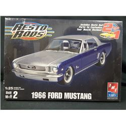 AMT ERTL 1:25 Resto Rods 1966 Ford Mustang Plastic Model Kit (UNBUILT IN BOX)