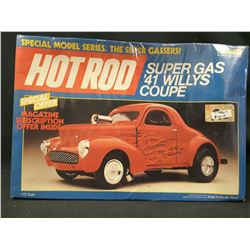 1986 Revell Hot Rod Custom '41 Willys Coupe Special Series 1/25