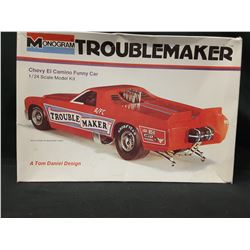 "MONOGRAM 1/24 Chevy EI Camino Funny Car ""Trouble Maker"" (UNBUILT IN BOX)"