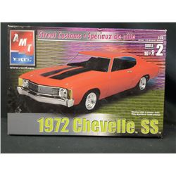 AMT 1972 CHEVY CHEVELLE SS 1/25 Model Car  KIT (UNBUILT IN BOX)