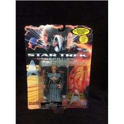 STAR TREK GENERATIONS ON CARD ACTION FIGURE SIGNED BY BARBERA MARCH