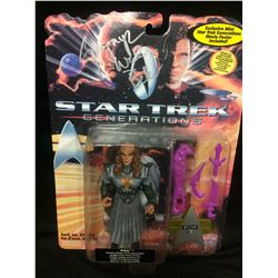 STAR TREK GENERATIONS ON CARD ACTION FIGURE SIGNED BY GWYNYTH WALSH