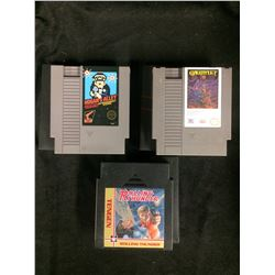 LOT OF 3 NES GAMES