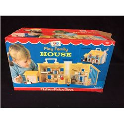 Vintage Fisher Price 1969 Play Family House Boxed Play Set W/ BOX
