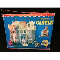 Fisher Price Little People Castle  w/ Original Box 1975 Play Family