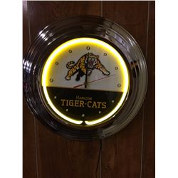 HAMILTON TIGER CATS NEON WALL CLOCK