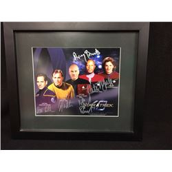 STAR TREK ALL 5 CAPTAINS FRAMED AND SIGNED BY ALL 5 W COA