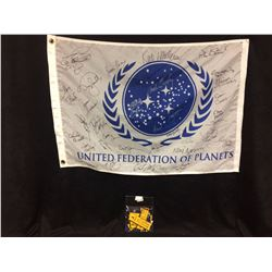 United Federations of planets flag signed by 62 w coa