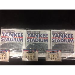 LAST GAME AT YANKEE STADIUM NEWS PAPERS & PATCHES LOT