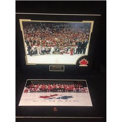 LOT OF 2 MATTED TEAM CANADA OLYMPIC PHOTOS