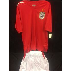 ENGLAND SOCCER JERSEY AND SHORTS