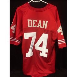 SANFRANCISCO 49ERS JERSEY SIGNED BY DEAN W COA