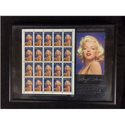 MARILYN MUNROE FRAMED COLLECTIBLE STAMPS AND CARD