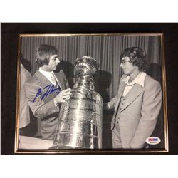 AUTOGRAPHED GUY LAFLEUR AND BOBBY HULL STANLEY CUP PHOTO PSA COA