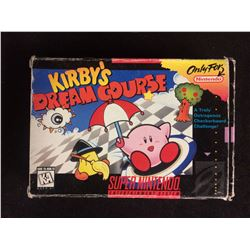 Kirby's Dream Course - Super Nintendo SNES - Game and Box -