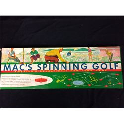 VINTAGE MAC'S SPINNING GOLF COMPLETE WITH ORIGINAL BOX