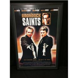 RARE THE BOONDOCK SAINTS FRAMED CAST SIGNED POSTER WITH COA