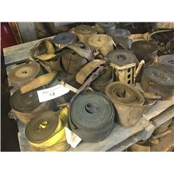 PALLET LOT OF CARGO STRAPS
